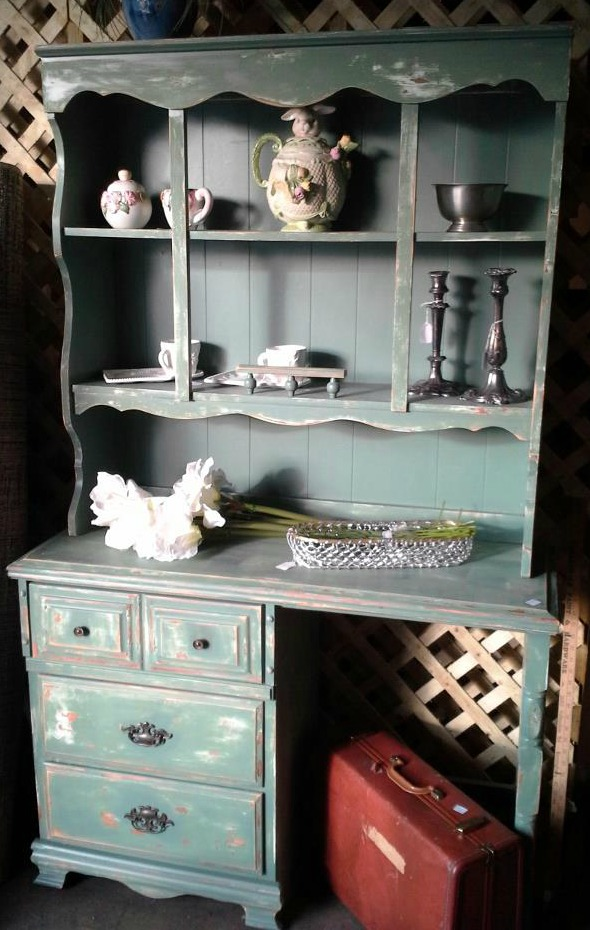Green shabby hutch shop at blu