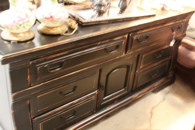 the-blue-building-antiques-consignment-repurposed-black-shabby-dresser-console-sideboard