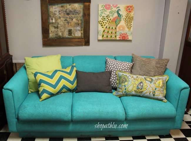 the-blue-building-shopatblu-fab-furniture-flipping-contest-spray-paint-fabric-sofa-turquoise-sofa-final