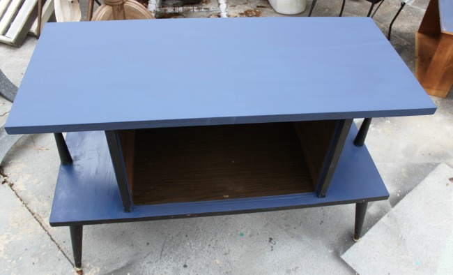 the-blue-building-shopatblu-country-chic-paint-FFFC-MCM-Bling-revamp-console-first-coat