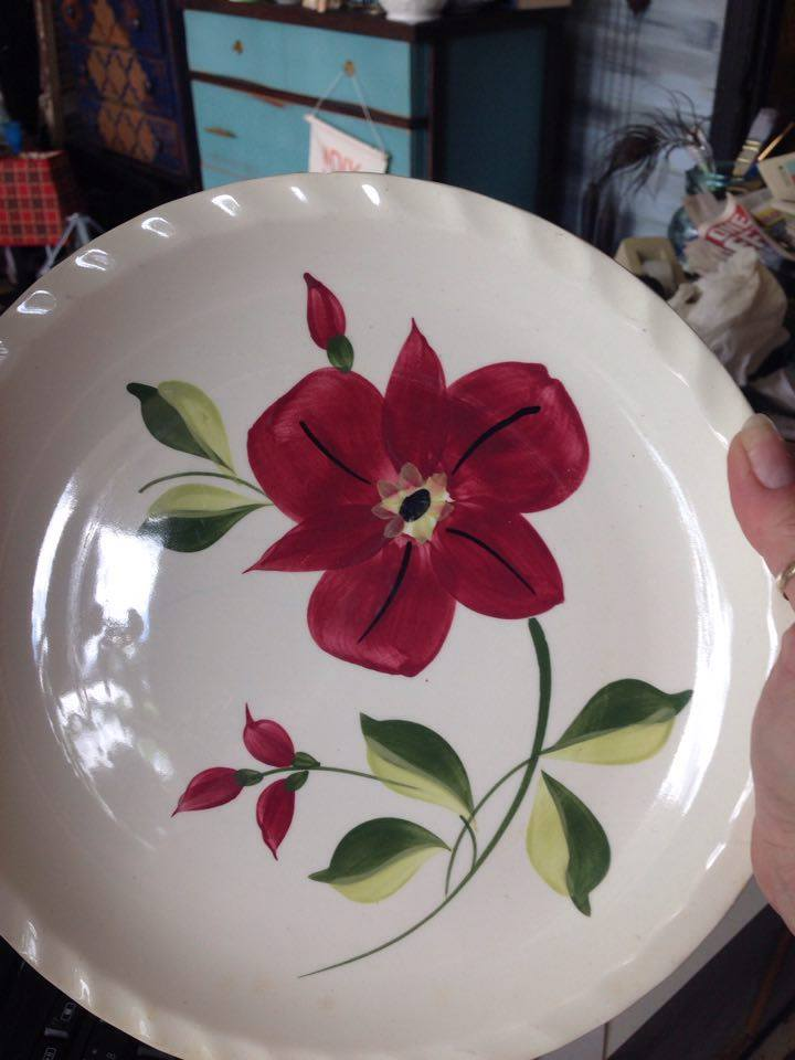 Blue Ridges Pottery china patterns Anemone plate available at The Blue Building Antiques and Consignment in Alabaster AL