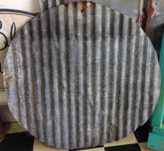 The Blue Building Antiques, Alabaster AL Make a clock from recycled vintage metal tin circle