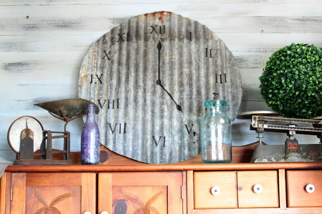 The Blue Building Antiques, Alabaster AL Make a clock from recycled vintage metal finished