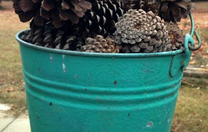 The Blue Building Antiques Alabaster AL Using pinecones to decorate