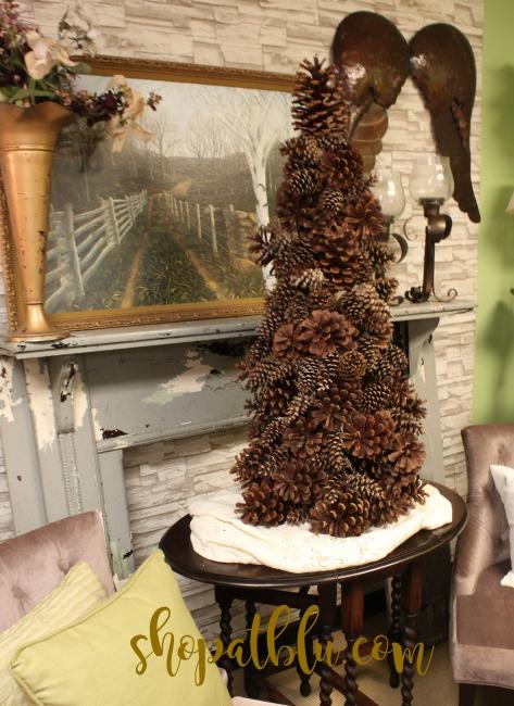 The Blue Building Antiques Alabaster AL shopatblu pinecone tree