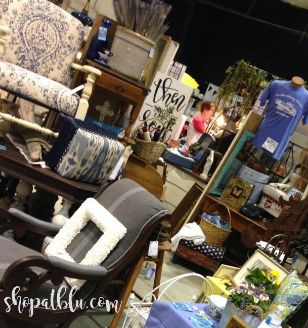The Blue Building Antiques, Alabaster AL Vintage Market Days of Mobile Upholstered Chairs