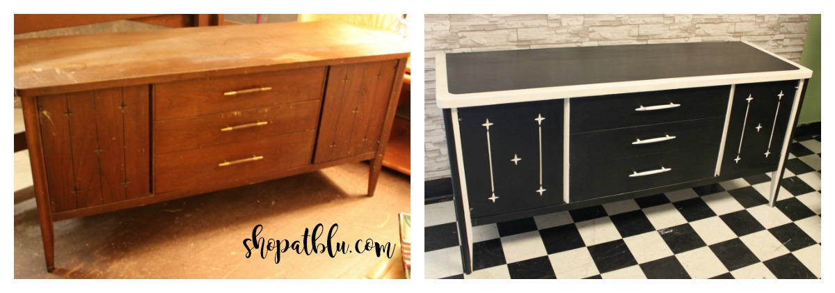The Blue Building Antiques Alabaster, AL Upcycle Project Transformation with Paint console