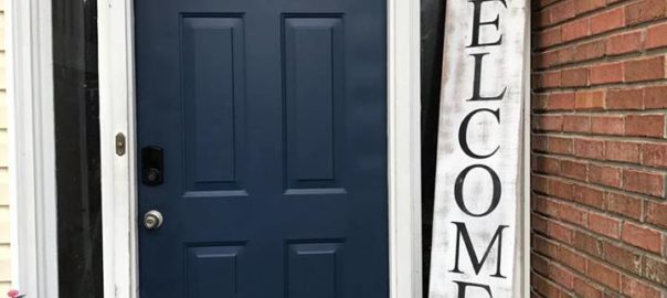 How to Make a Farmhouse Porch Welcome Sign - Shop At Blu - The Blue Building Antiques And Consignment: Experience